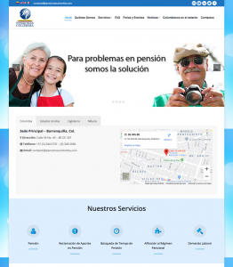 Hosting Web Pensiones Colombia