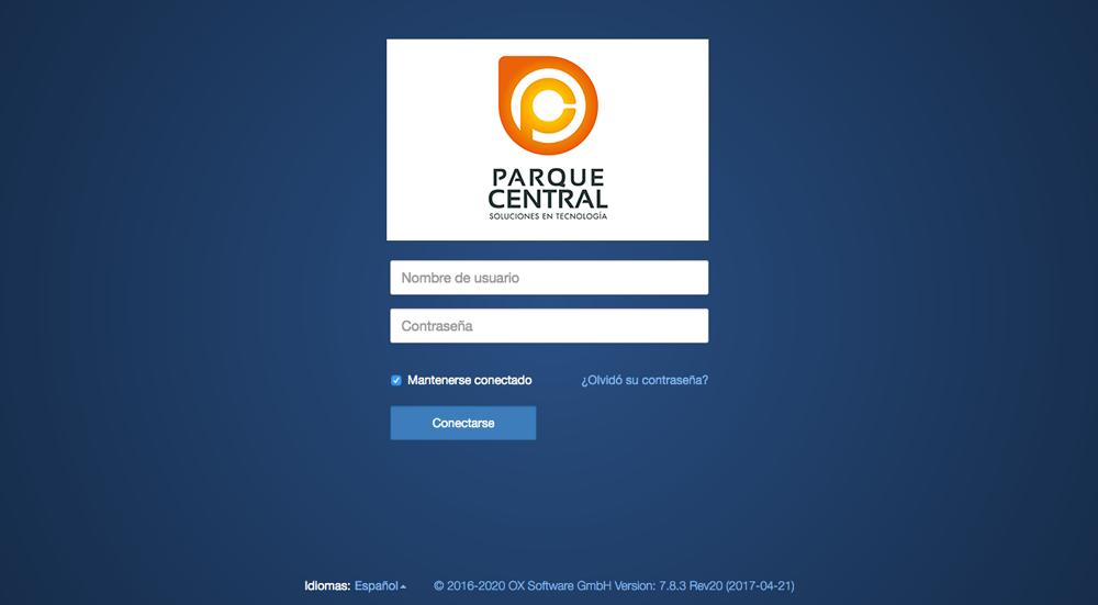 Correo Electrónico OX Suite. Centro Comercial Parque Central.