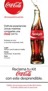Volante desprendible. Coca Cola